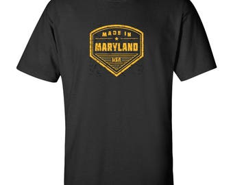Made in Maryland T Shirt - Black