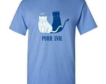 Purr Evil Basic Cotton T Shirt