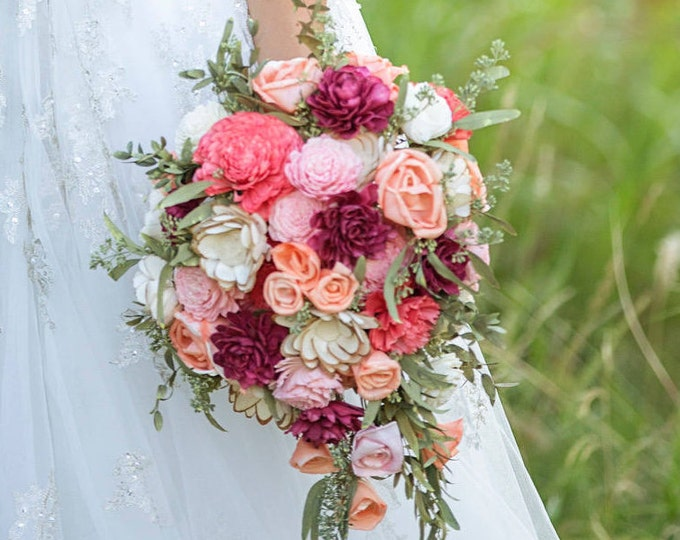 Teardop Bridal bouquet - Keepsake Bridal Bouquet - Summer Bridal Bouquet - Fall Bridal Bouquet