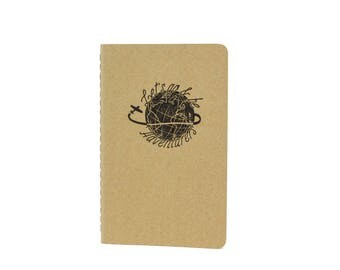 Adventurers Pocket Notebook / Letterpress Notebook / Letterpress Moleskine / Travel Log / To Do List / List Notebook / Travel Journal