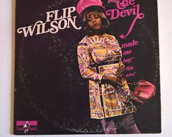 The Devil Made Me Buy This Dress Vintage Flip Wilson Comedy Record --- Retro 1970's American Comedian --- Hipster Vinyl Humor Collection