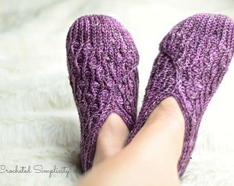 Crochet Pattern: Winter Waves Kimono Slippers