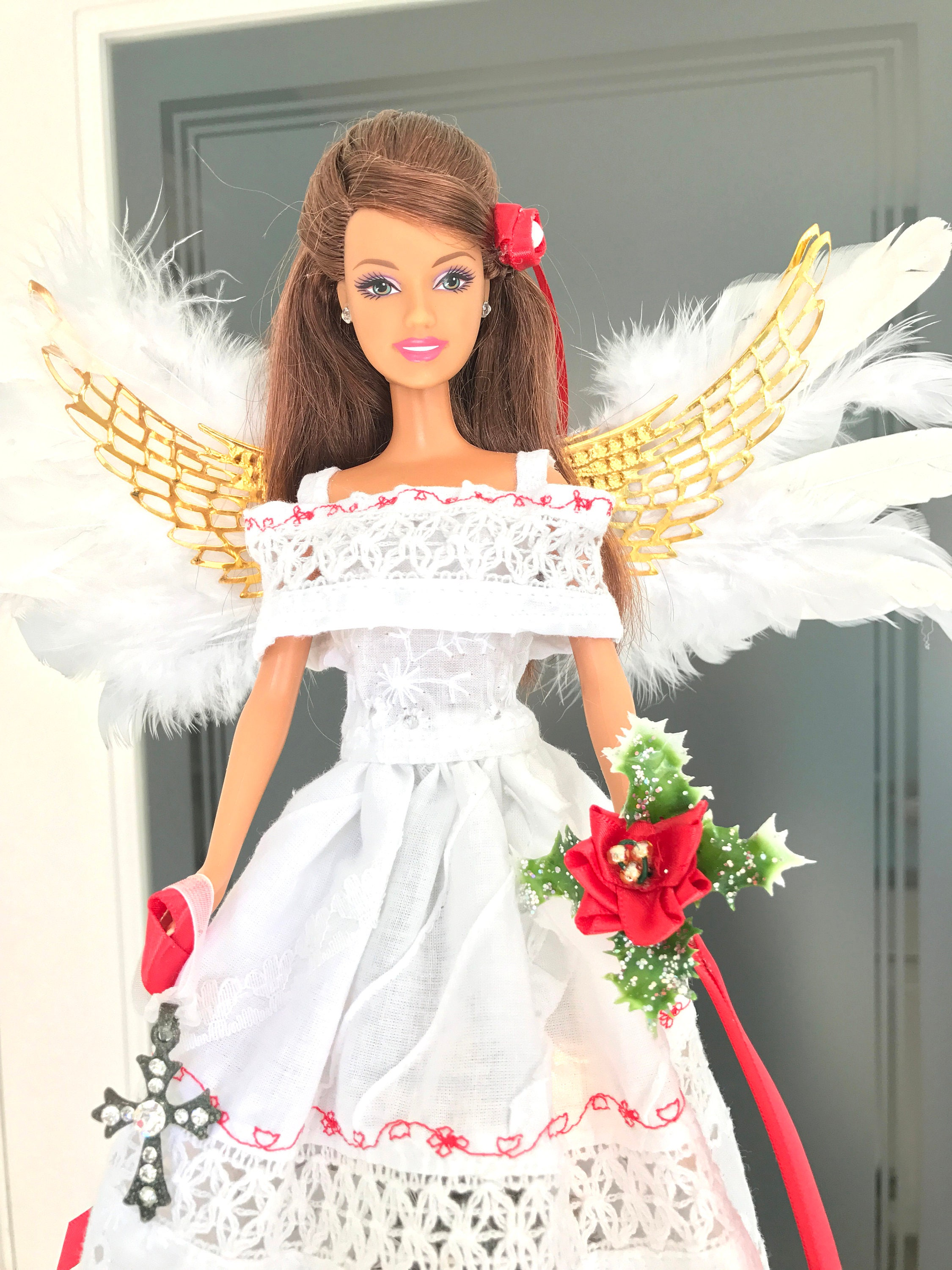 Angel Tree Topper Latina Angel Christmas Tree Topper Mexican