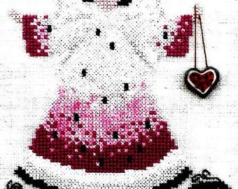 Raspberry Patch Design Studio Angel of the Watermelon Patch Counted Cross Stitch Pattern Book Charted Design Needlework Rare Out of Print