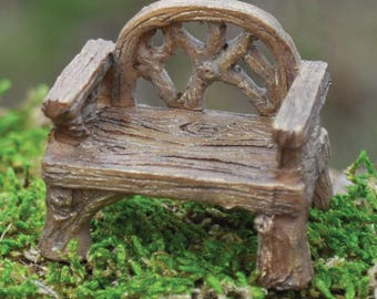 Fairy Garden Chair - Rustic Woodland Chair Fairy Garden Accessories Fairy Garden Furniture Twig Fairy House Garden Miniatures Fairy Chair