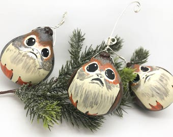 Porg - Hand painted gourd ornaments