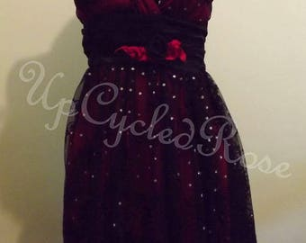 Clearance Prom Bohemian Party Dress Up-Cycled Gypsy Chic Ready to Ship