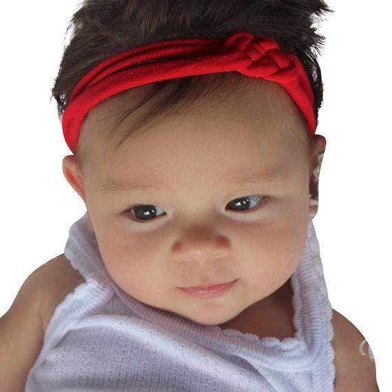Christmas Headband, Red Headband, Baby Headband, Baby Headband Bows, Baby Headband, Baby Girl Headband, Knot Headband, Infant Headbands