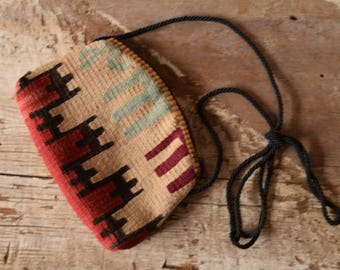 Small Kilim Purse Crossbody Bag - 7.5 x 5.5 in