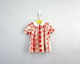 vintage 60s Polly Flinders Day At The Zoo Novelty Print Dress Little Girls Dress Bloomers- 3T // Elephants, Lions  & Giraffes