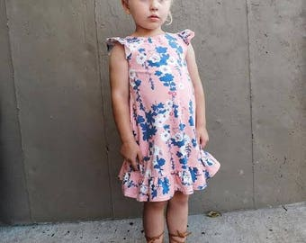 Baby girl clothes, baby girl dress, girls floral dress, boho dress, toddler dress, flower girl dress, baby floral dress, floral dress