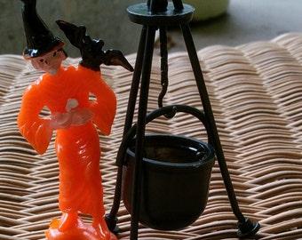 vintage halloween cake topper witch bat u0026 cauldron decoration halloween decoration