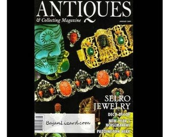 SELRO JEWELRY Antiques & Collecting Magazine January 2009 /Selro Unmasked By Susan Maxine Klein/ The Paul Selinger Story/ Photo of Selro