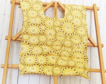 Back and Shoulder Heating Pad - Large Yellow Floral Heating Pad, Microwave Shoulder Upper Back Heating Pad, Hot and Cold Pack, Back Therapy