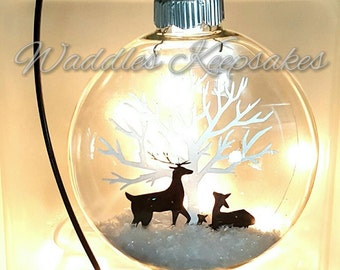 Floating Picture Christmas Ornament