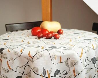Linen tablecloth Scandinavian tablecloth Scandinavian Fabric Housewarming gift Kinnamark Näverås