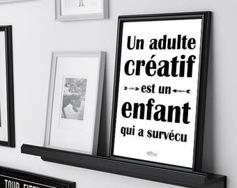 adulte enfant / poster / french only