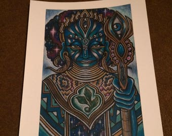 The Universe is in Her Hands- Print