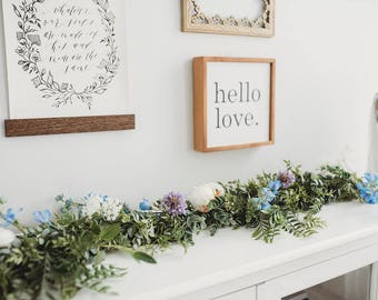 Wedding Garland - Eucalyptus Garland - Floral Garland - Floral Backdrop Arch  - Bridal Shower Decor - Baby Shower