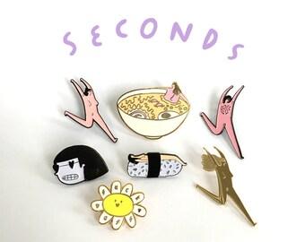 Seconds - Enamel Pins