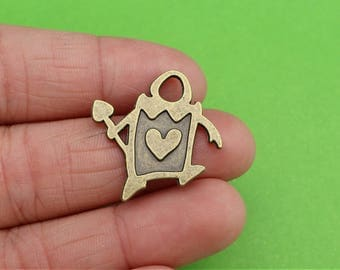 5 Card Guard Bronze Alice in Wonderland Charms