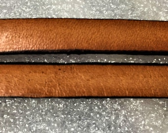 Pre Cuts, No Joins,  Camel Brown 10mm Flat Leather Cord, finding, jewelry making craft supplies,  leather supplier,