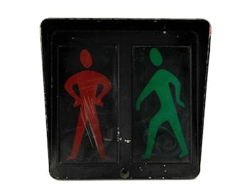 Pedestrian Crosswalk Signal Walk Don't Walk Sign.