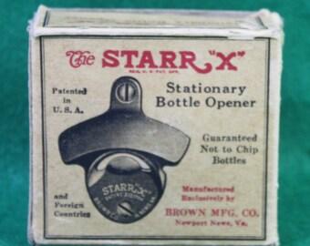 Vintage NOS The Starr X stationary bottle opener - Howard Hughes Grand Prize lager beer