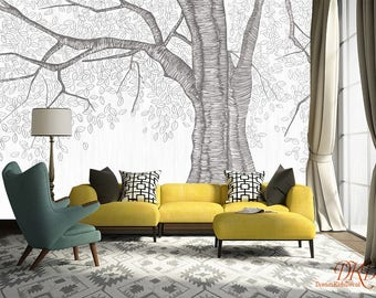 Wall coverings, Wallpaper, Wall Murals, Giant Tree Peel & Stick Removable Wallpaper, Wall Decal, Wall Stickers