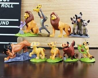 CAKE TOPPER - 9 pcs Lion King 9 Figure Set Custom Wedding Birthday Party Decor DIY Cupcakes Figurines