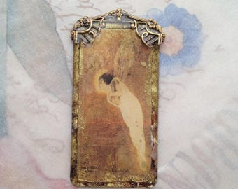 Fairy Pendant- Grimshaw fairy image, Victorian Painting , jewelry components, resin pendant