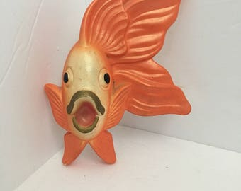 Miller Studios Orange Ceramic Chalk Fish Wall Decor