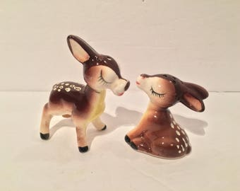 Japan Kissing Fawn / Doe / Deer Salt and Pepper Shakers