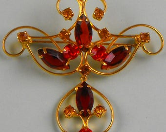 Vintage Brooch with a Dangle