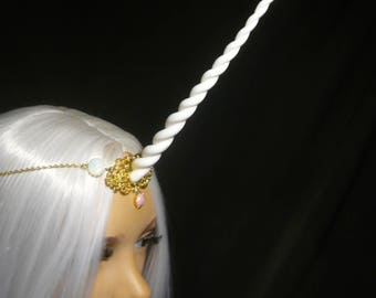Fairy Opal Unicorn - Tiara with handsculpted  Unicorn Horn