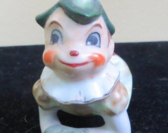 Adorable 1950's Little Fairy Garden Elf Pixie Gnome Boy Figurine - Free Shipping