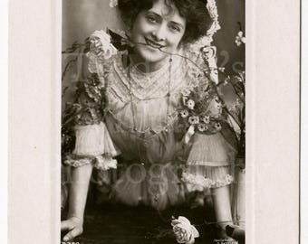 Isabel Jay Edwardian Actress Theatre Stage RPPC Postcard - Rotary Sunk Gem Series - Unused - Antique Postcard