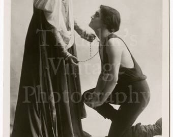 "Lily Brayton and Henry Ainley in ""As You Like It"" Edwardian Stage Film Actress Actor RPPC Postcard - Rotary Series - Unposted Photograph"