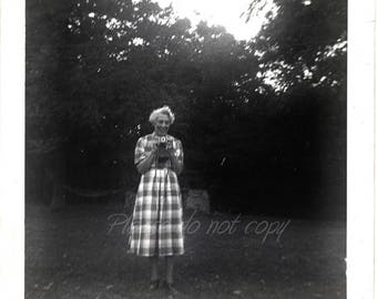 dueling snapshot Photographers ~  Vintage Photo