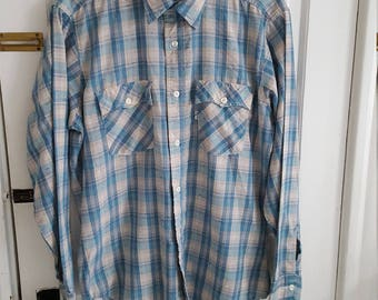 Vintage 1970's Levis Shirt Western Wear Long Sleeve Button Up