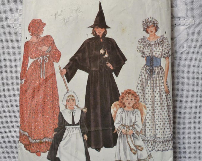 Vintage Simplicity 9809 Sewing Pattern Girl Halloween Costumes Size 2 thru 12 Crafts  DIY Sewing Crafts PanchosPorch