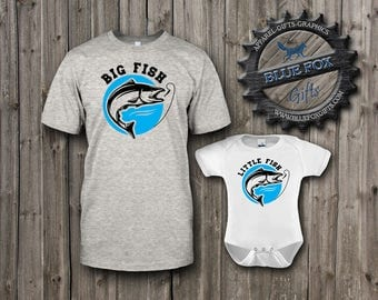 Dad and Baby Matching Shirts,Fishing shirt set,Fishing shirts, Future fisherman,Dad fishing shirt,Matching parent and baby shirt,Fishing,007