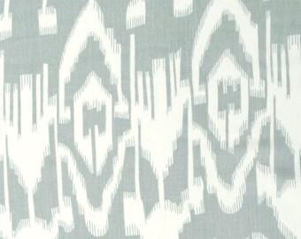 COTTON FABRIC DESIGN 7 -  Light Grey Ikat Design