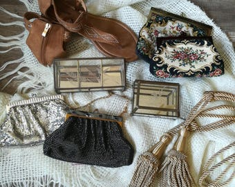 Vintage Mesh Whiting and Davis Co. Evening Bags/Clutches