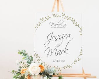 Wedding Signs Welcome to our Wedding Poster Clean and Simple
