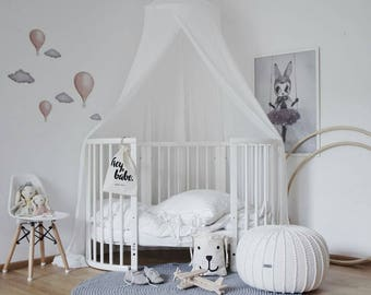 Medium ecru pouf, ecru ottoman, cream pouf, knitted pouf knit pouf nursery decor, knitted ottoman footstool nursery pouffe baby pouffe ZURI