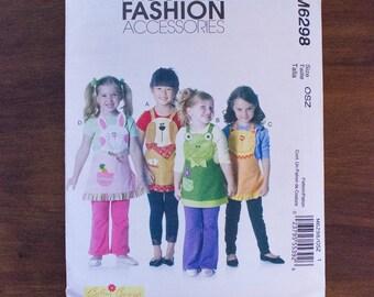 McCall's Fashion Accessories M6298 Children's Aprons Pattern Animal Aprons- Uncut