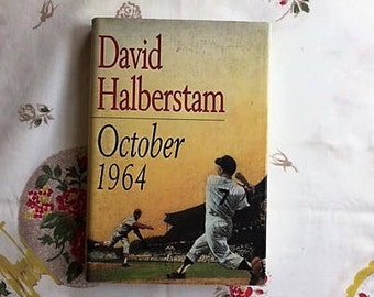 """BASEBALL: """"1964"""" by David Halberstam. First Edition. One of the best historical sports books ever. Yankees vs. Cardinals."""