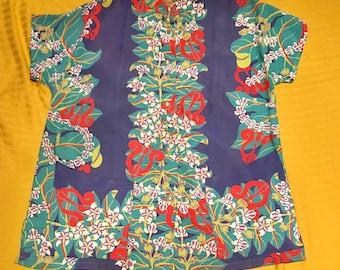 40s Kamehameha Silky Rayon Teatimer M