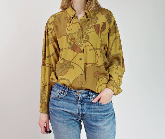 80s Renaissance womens street style shirt / size m/l